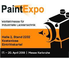 März 2018: Dreisol als Aussteller auf der PaintExpo